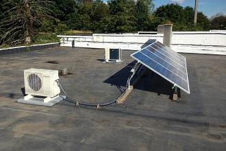 solar panels flat roofs